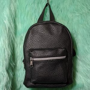 NWT Small Backpack Vegan Leather Black